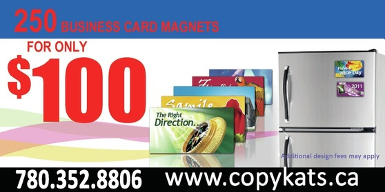 Business Card Magnets Copykats Copy Print Centre